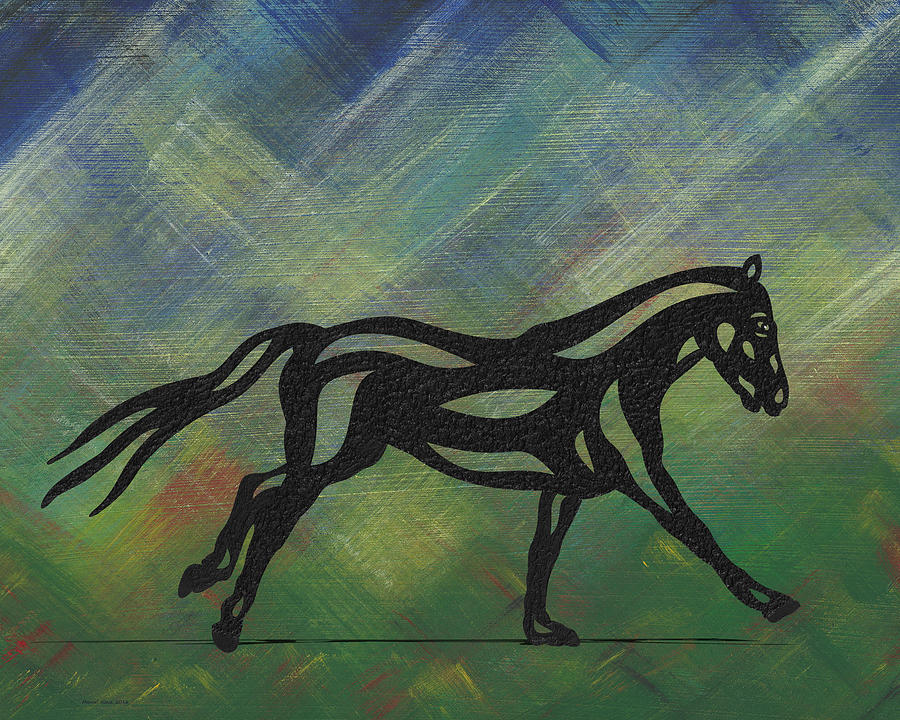 Clementine - Abstract Horse by Manuel Sueess