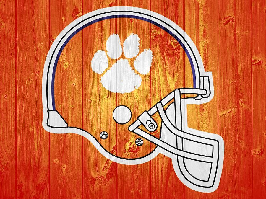Clemson Tigers Mixed Media - Clemson Barn Door by Dan Sproul