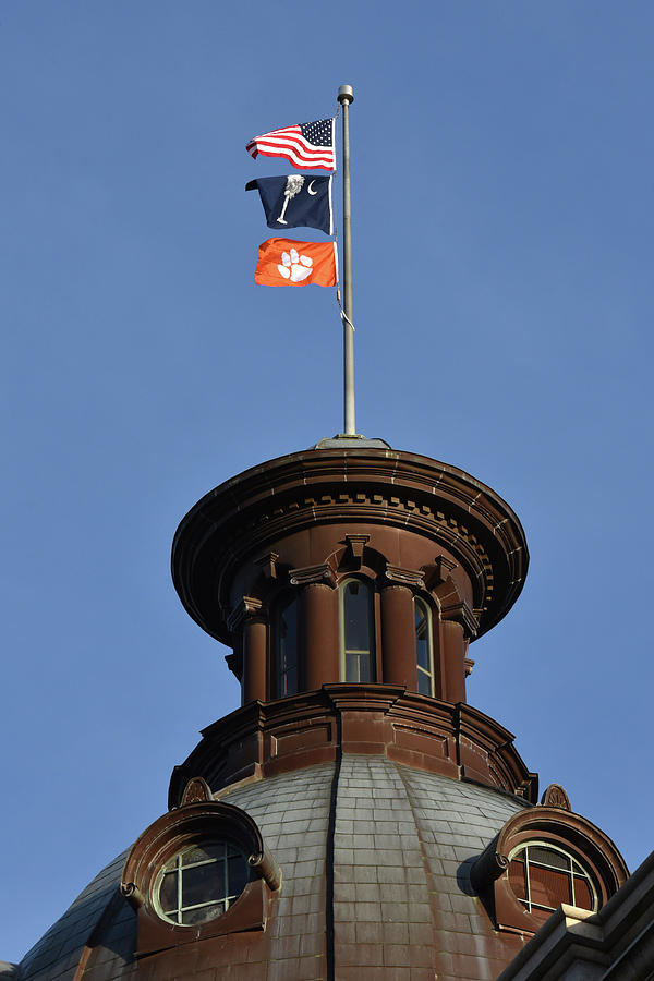 Clemson Flag At State House Photograph by Rob Thompson