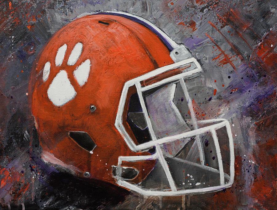 Clemson Tigers Football Helmet Original Painting Painting