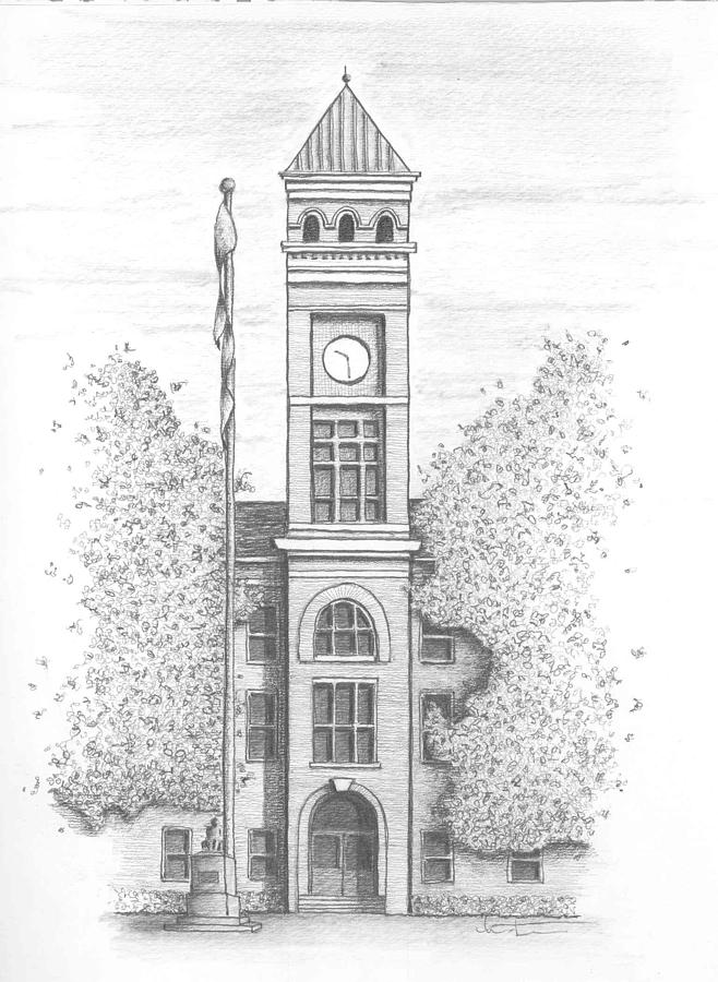 Pen and Indian Ink Drawing (Old Town Hall Bray) | Peter ...