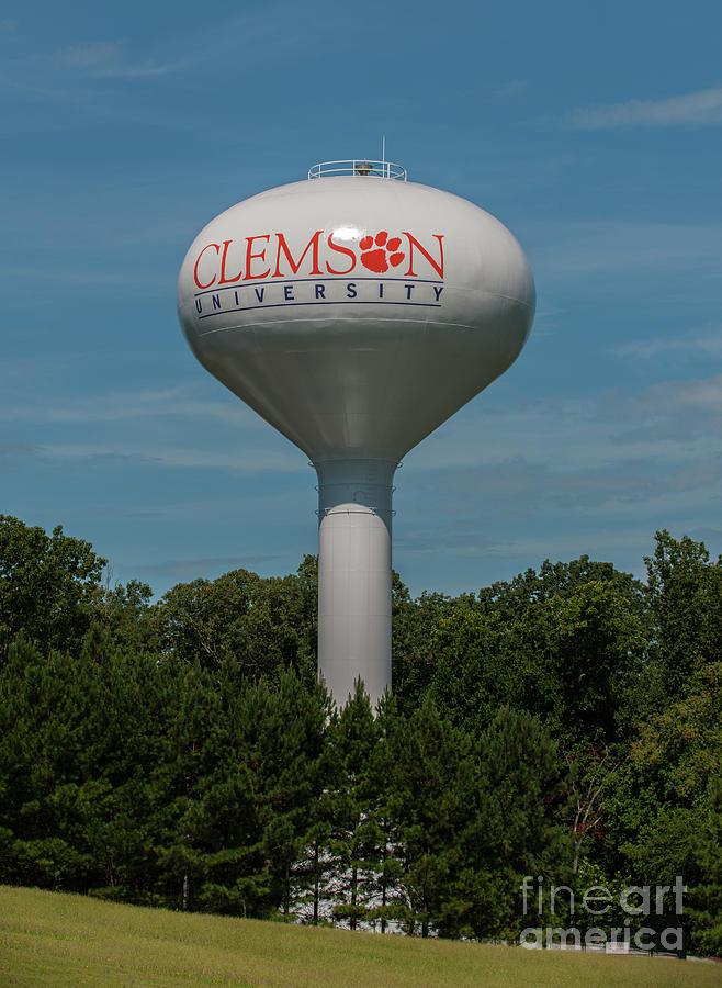 Clemson Water Tower Photograph