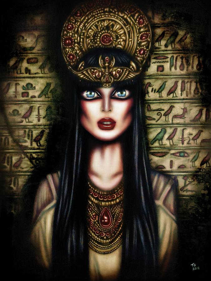 Cleopatra Painting By Tiago Azevedo Pop Surrealism Art Painting
