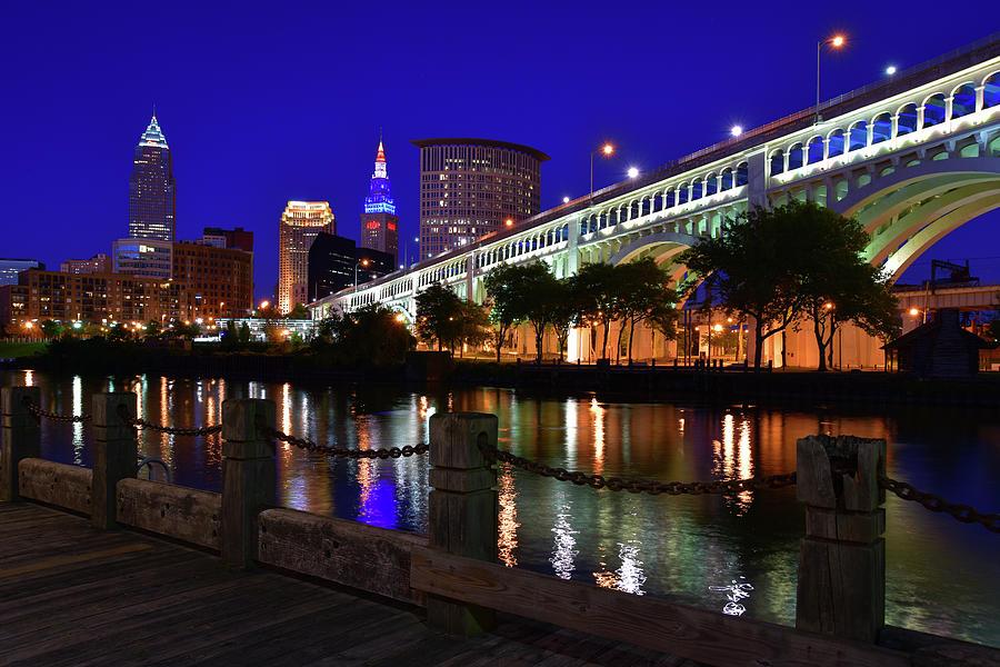 Cleveland Boardwalk Skyline by Clint Buhler