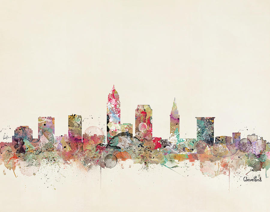 Cleveland Ohio Painting - Cleveland by Bri Buckley