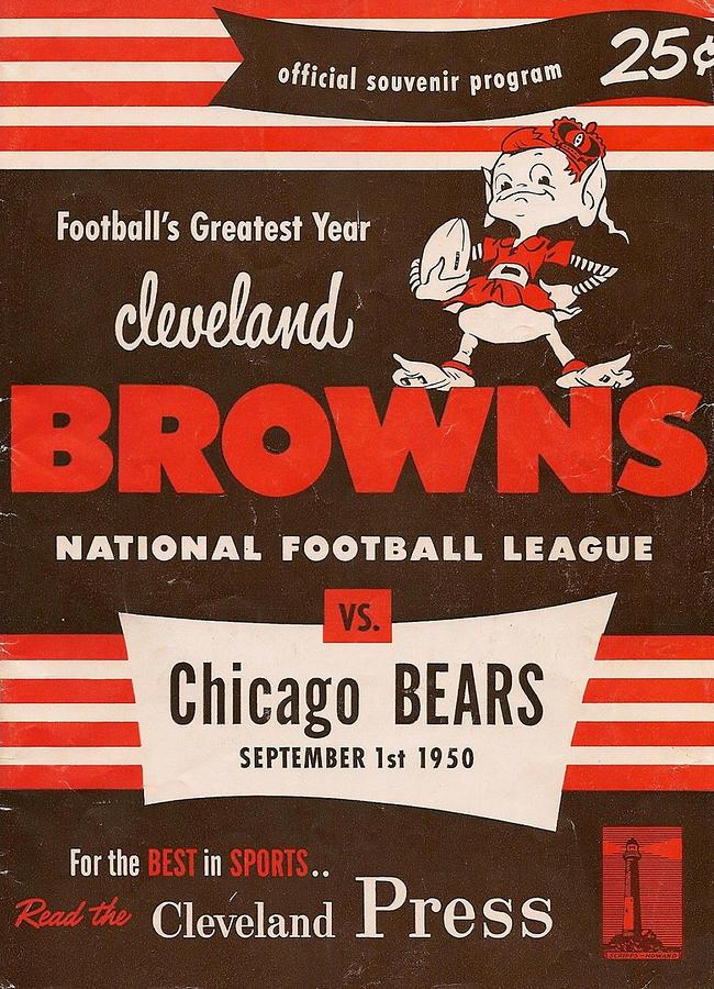 Cleveland Browns Vintage Program 5 Photograph by Joe Hamilton