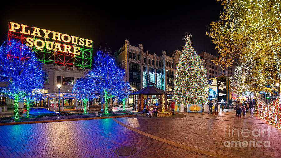 City View Photograph   Cleveland Christmas Tree In The Playhouse Square  District 2015 By Frank Cramer