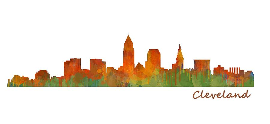 Cleveland Painting - Cleveland City Skyline Hq V1 by HQ Photo