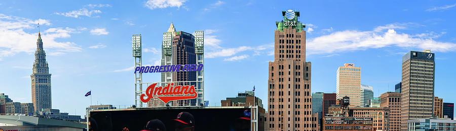 Cleveland Indians Skyline Panorama Photograph