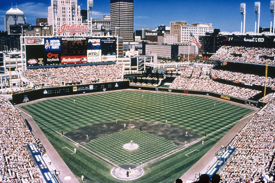 2000 Photograph - Cleveland: Jacobs Field by Granger