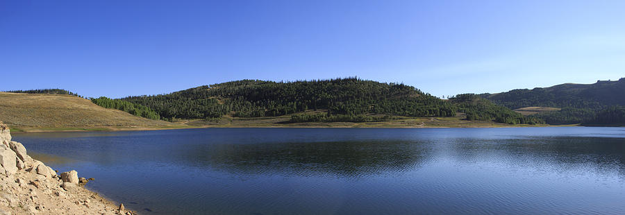 Blue Sky Photograph - Cleveland Reservoir Panorama by K Bradley Washburn