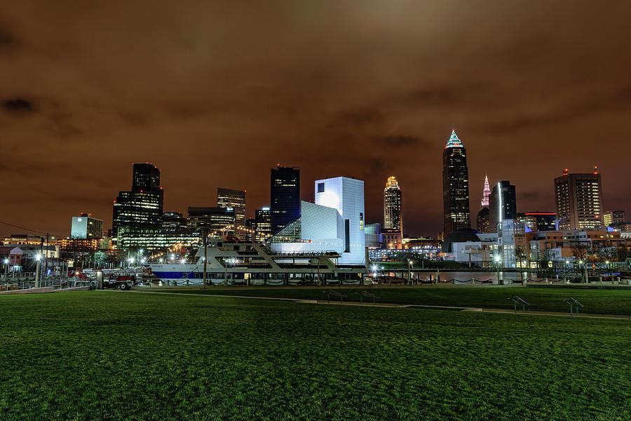 Belt Photograph - Cleveland Skyline At Night by Cityscape Photography