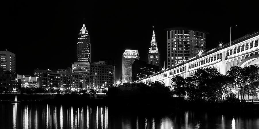 Cleveland Photograph - Cleveland Skyline by Dale Kincaid