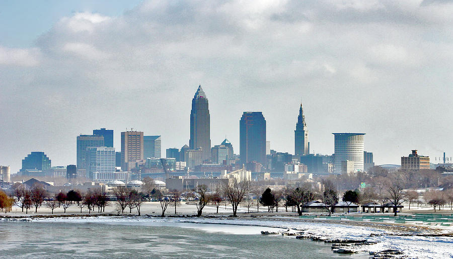 Cleveland Skyline In Winter Photograph By Bruce Patrick Smith