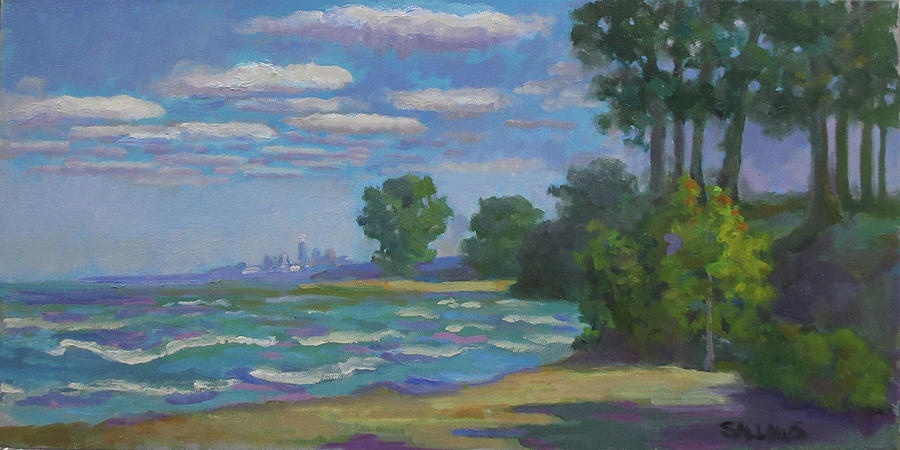 Cleveland Painting - Cleveland Vista by Nora Sallows