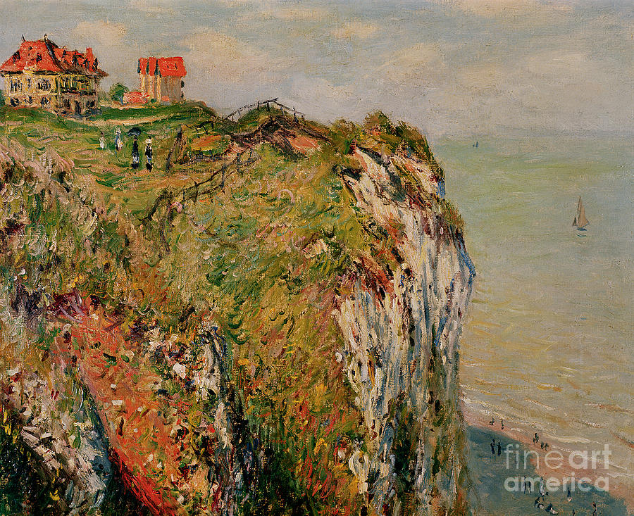 Edge Of The Cliff Pourville Painting by Claude Monet