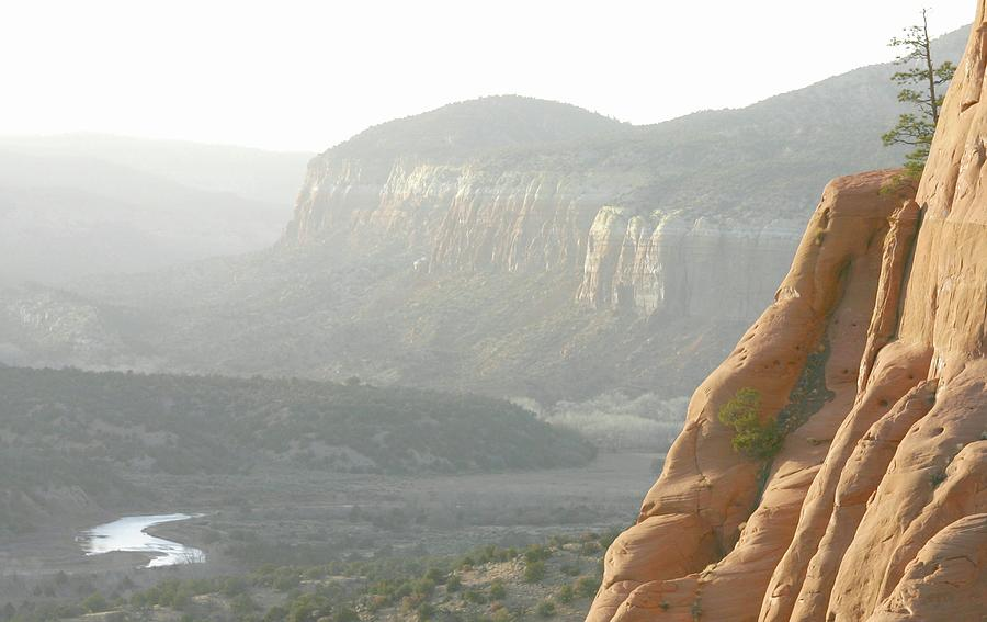 New Mexico Landscape Photograph - Cliffhanger by Look Visions