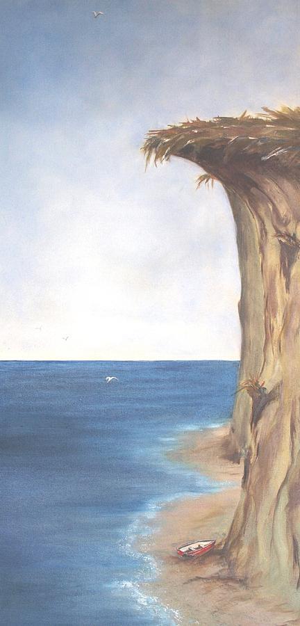 "Cliff at Etretat"" by Eugene Delacroix | Fine art Oil painting ..."