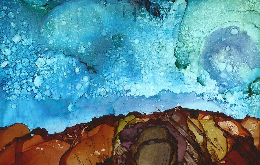 Cliff Diving Painting - Cliff Diver by Joy Dorr