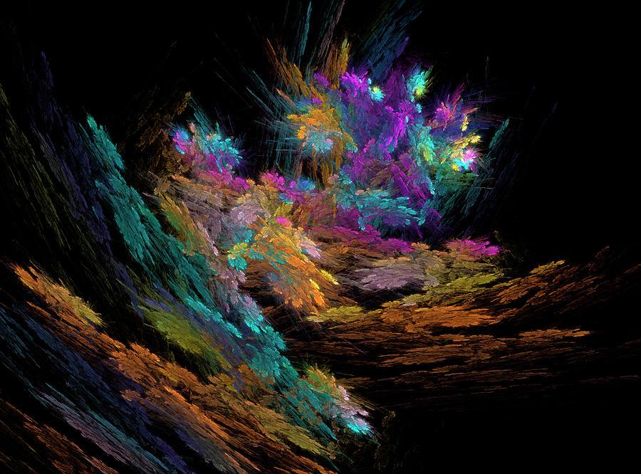Cliff Garden Digital Art