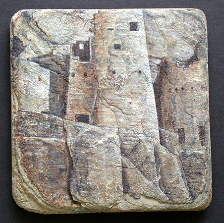 Archaelogy Painting - Cliff Palace Tower by Richard Bulman