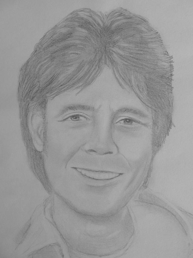 Cliff Richard Drawing By Paul Blackmore