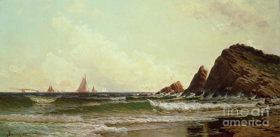 Portland Harbour Painting - Cliffs At Cape Elizabeth by Alfred Thompson Bricher
