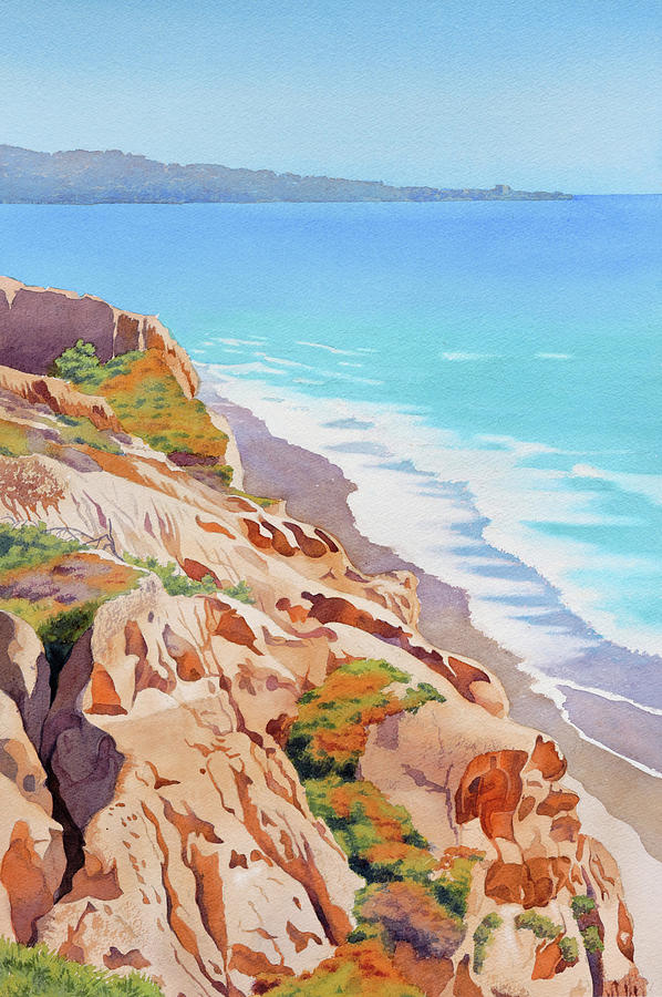 Cliffs at Torrey Pines 2016 by Mary Helmreich