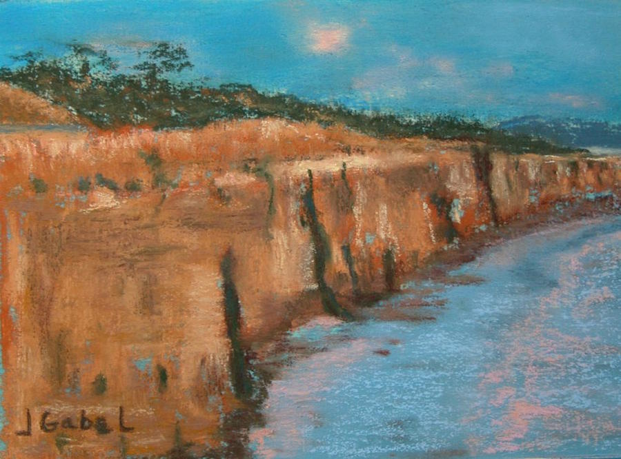 Cliff Pastel - Cliffs by Laura Gabel