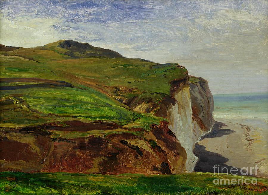 Cliffs Painting - Cliffs by Louis Eugene Gabriel Isabey