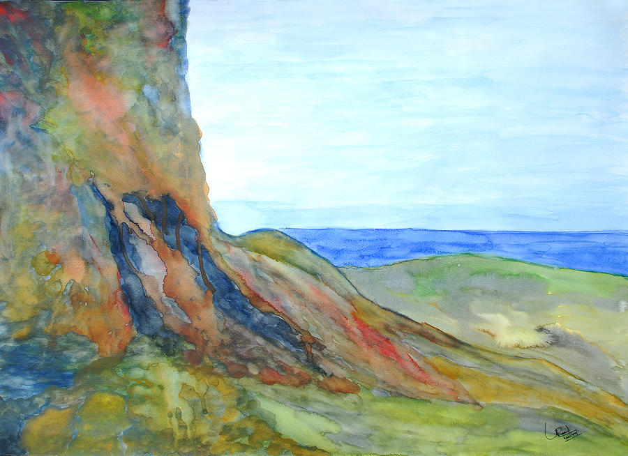Landscape Painting - Cliffs Of Kaikura by Prasad Setty