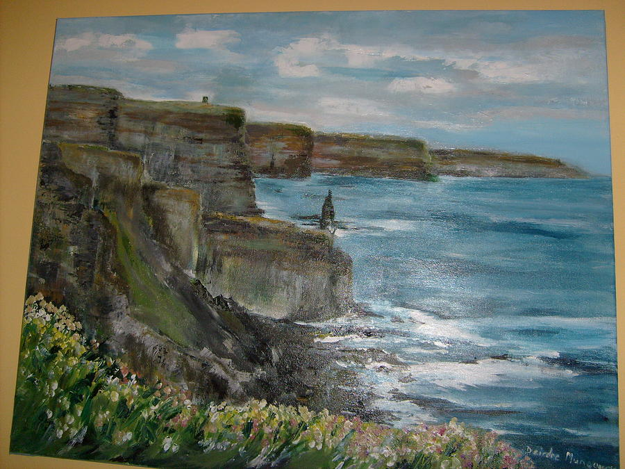 Landscape Painting - Cliffs Of Moher 1 by Deirdre McNamara