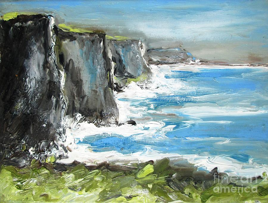 """A Painting A Day by Laura Wambsgans: """"Rocky Cliff"""" ©"""