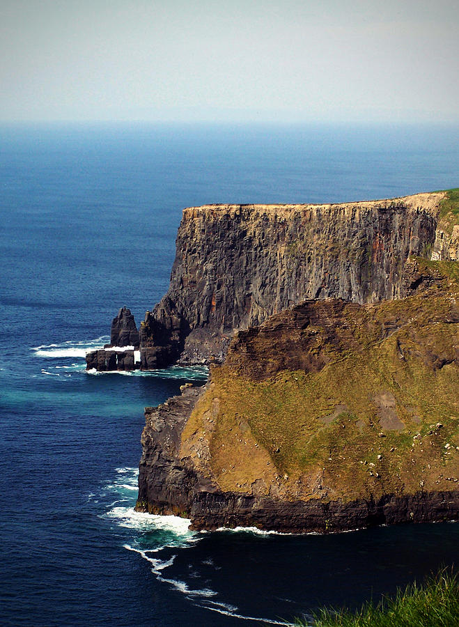 Irish Photograph - Cliffs Of Moher Ireland View Of Aill Na Searrach by Teresa Mucha