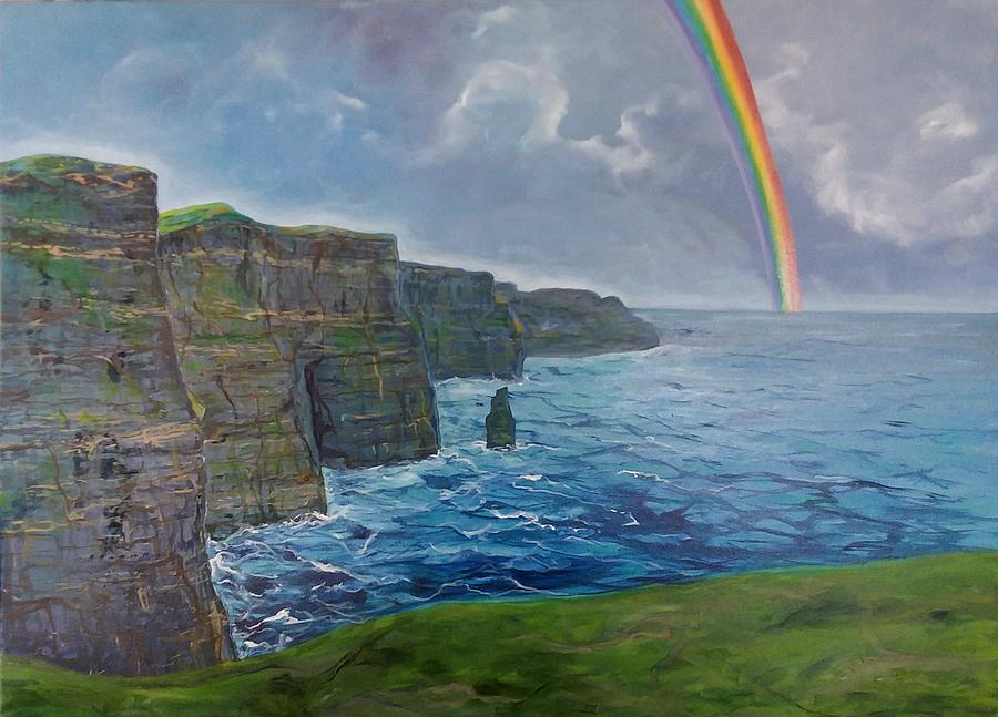 Ireland Painting - Cliffs Of Moher  by Sheila Carey