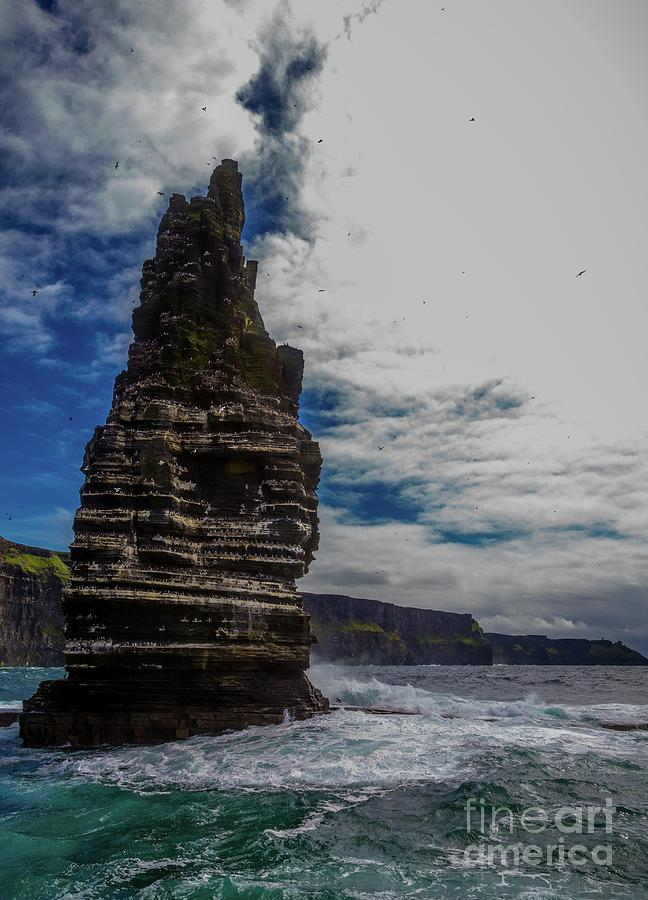Cliffs Of Moher Photograph - Cliffs Of Moher Stack by Donna Barker