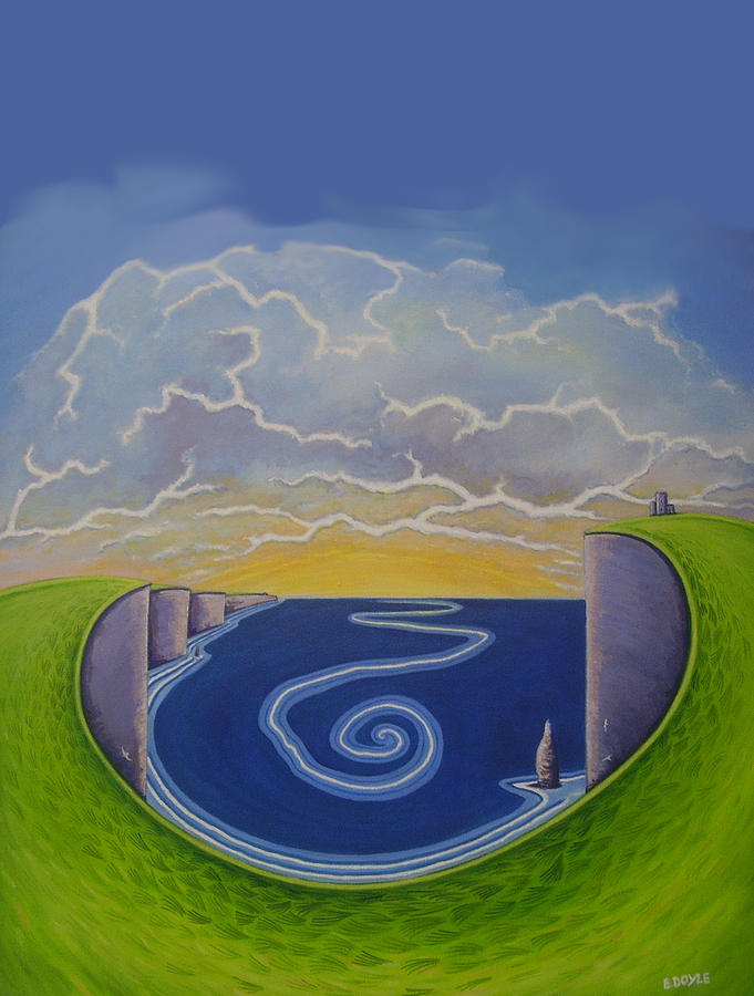 Cliffs Of Moher Painting - Cliffs Of Moher Vortex by Eamon Doyle