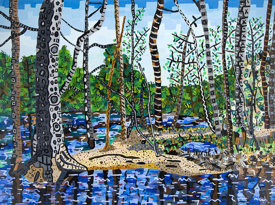 Cliffs Of The Neuse State Park 1 Painting by Micah Mullen