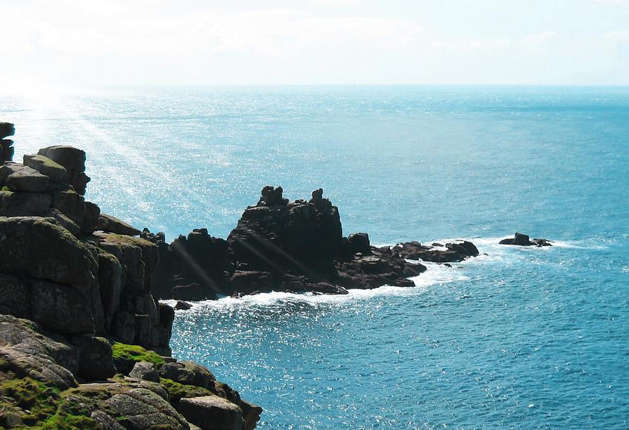 Aqua Photograph - Cliffs by Svetlana Sewell