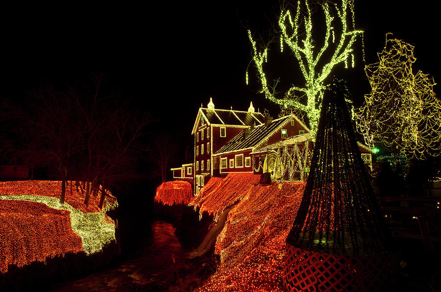 Clifton Mill Christmas Lights.Clifton Mill At Christmas By Tom Ramsey