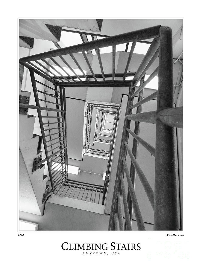 Stairs Photograph - Climbing Stairs by Phil Perkins