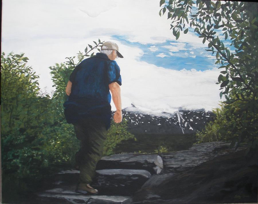 Scenery Painting - Climbing To The Glacier... by Betty-Anne McDonald