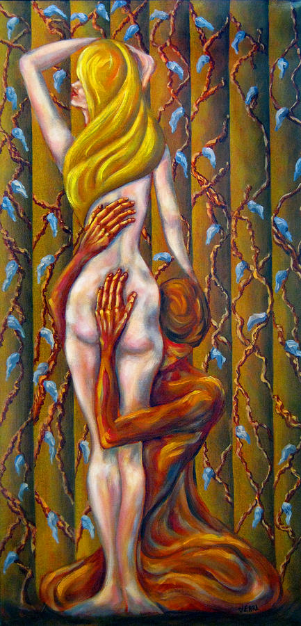 Nude Painting - Clinging Vine by John Entrekin