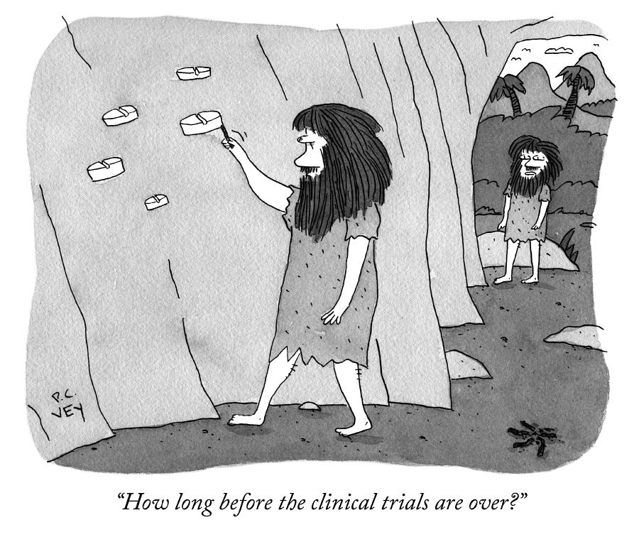 Clinical Trials Drawing by Peter C Vey
