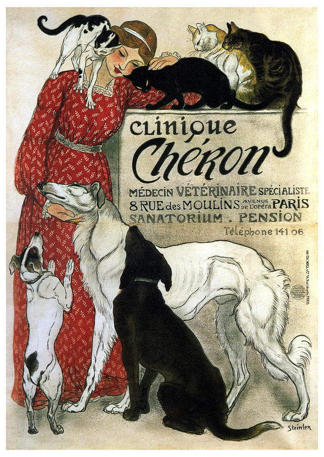 Woman Mixed Media - Clinique Cheron - Vintage Clinic Advertising Poster by Studio Grafiikka