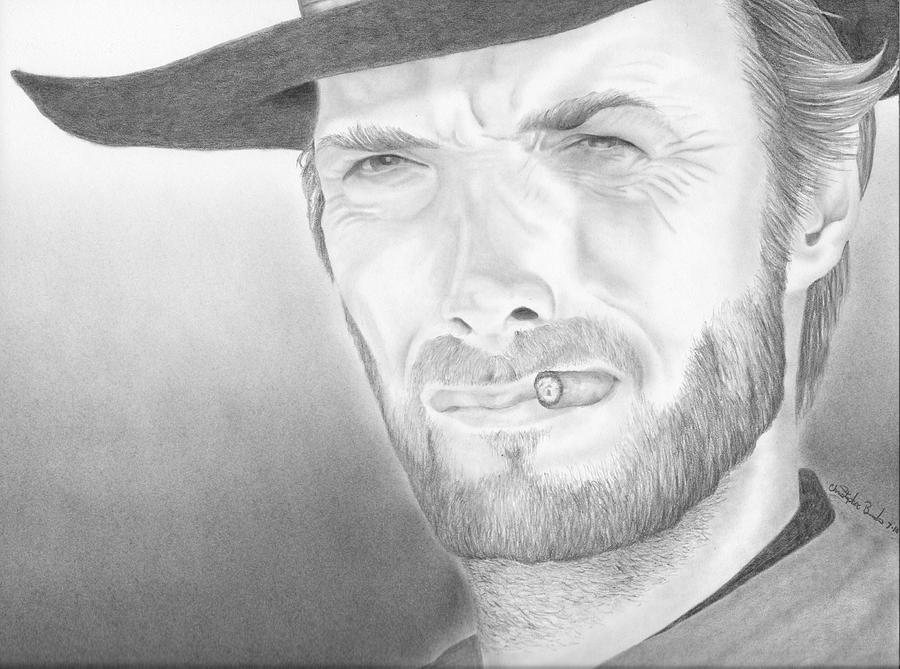 Clint Drawing - Clint by Christopher Brooks