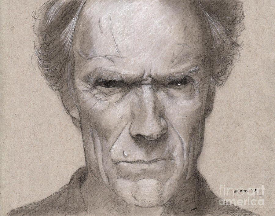 Clint Eastwood 3 Drawing by Glenn Daniels