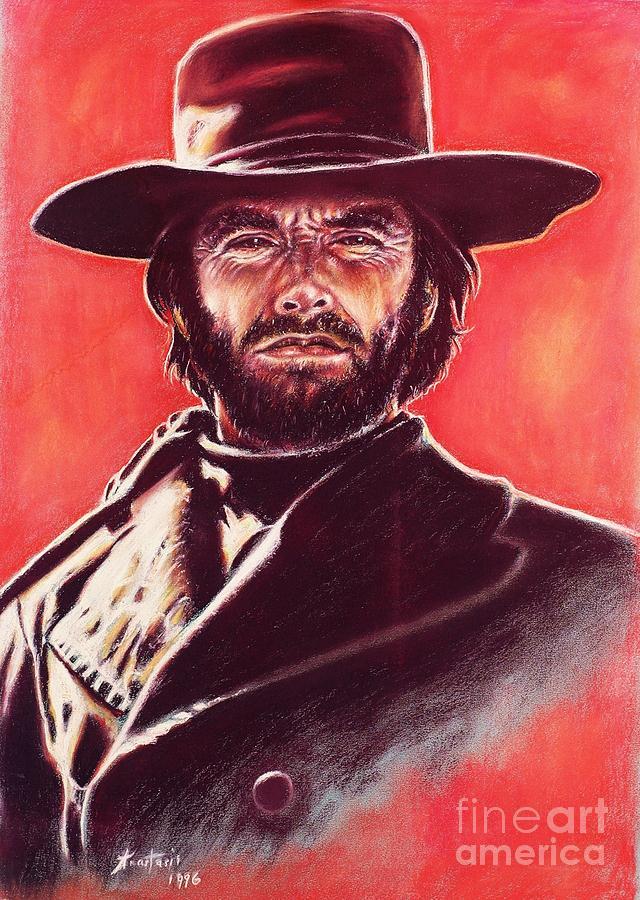 Paper Painting - Clint Eastwood by Anastasis  Anastasi
