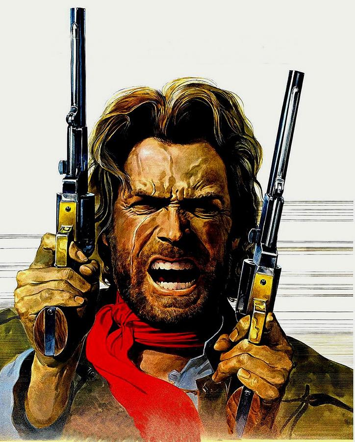 Clint Eastwood As Josey Wales Digital Art By Movie Poster