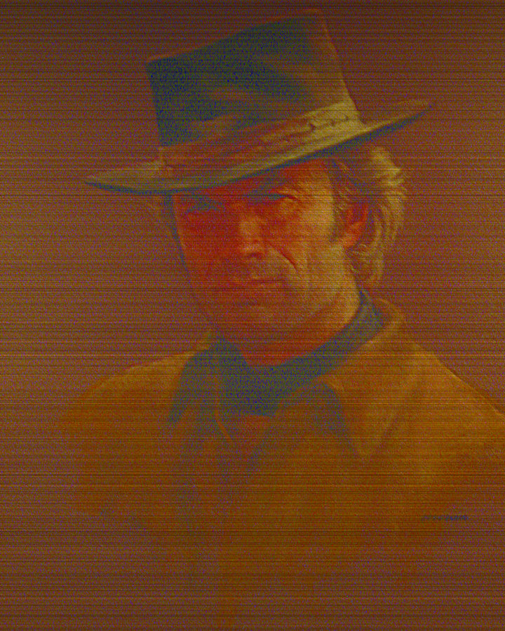Clint Eastwood Portrait Pastel - Clint Eastwood by Charles Vernon Moran